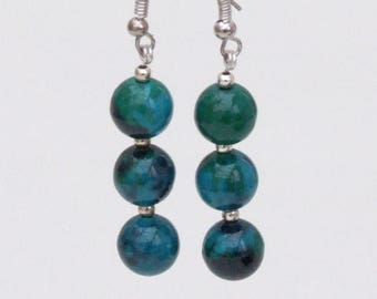 Chrysocolla Bead earrings