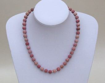 Frosted Rhodonite Necklace