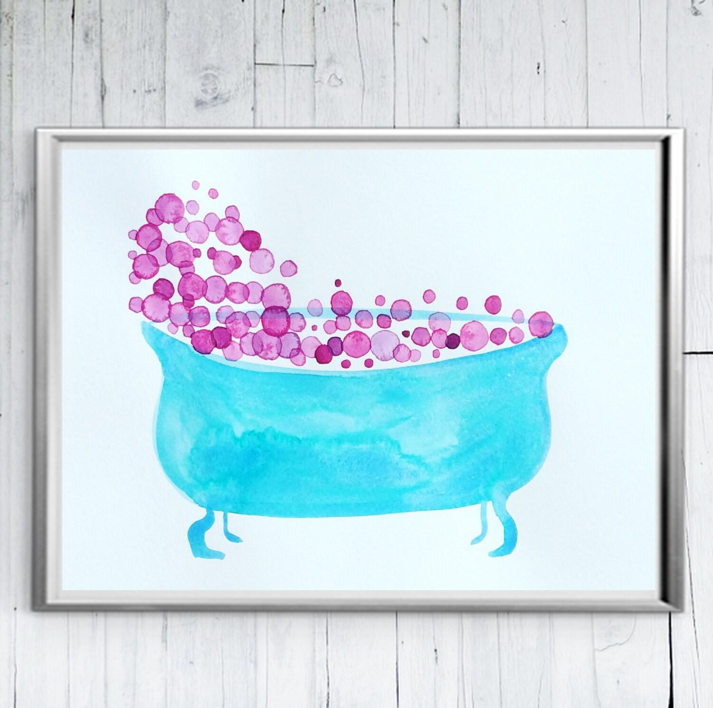 Bathroom Printables Bathroom Printable Bathtub Art | Etsy