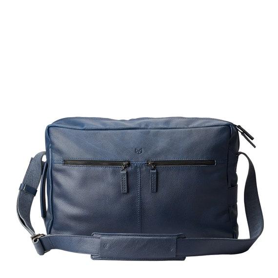 shoulder bag crossbody bag blue bag laptop bag blue leather bag Blue messenger bag blue crossbody bag messenger bag blue shoulder bag