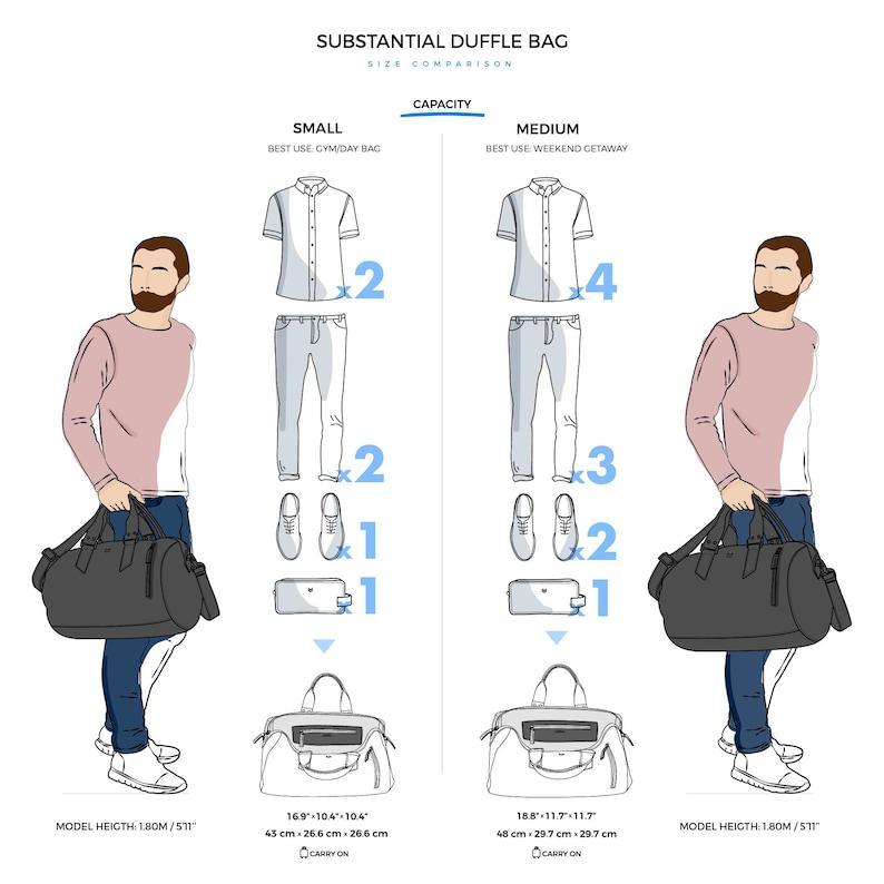 Custom Monogram Gift Black Leather Duffle Bag  Men Medium Shoulder Travel Weekender Gym Sports Carry On Handmade Overnight Clothes Holdall