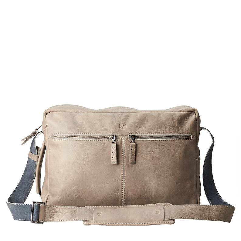 Grey Leather Shoulder Bag Handmade Satchel Men Crossbody  6037f65fd35f5