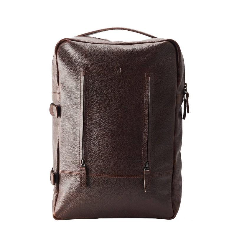 78eddb53ffc0 Dark Brown Leather Laptop Backpack Men. Travel Rucksack, Handmade Bookbag,  Camera Designer Bag, Work Urban Back Pack, Custom Engraved Gift