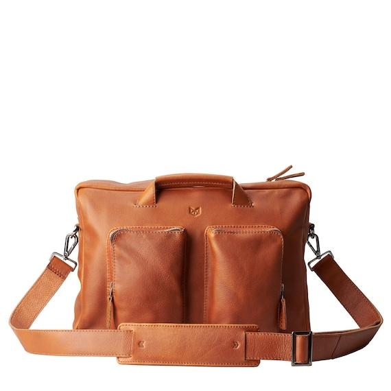 cf7e667824eb Tan Leather Shoulder Bag Handmade Satchel Men Crossbody