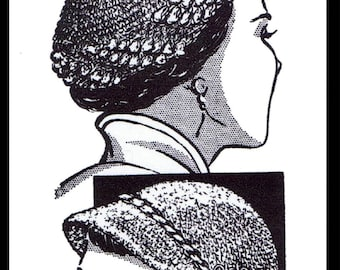 A3 PDF Digital Delivery Crocheted Crocheting Pattern Crochet Hat /& Mittens Boot Tops Vintage Mail Order Design #805 Chemo Cancer  Pdf A3