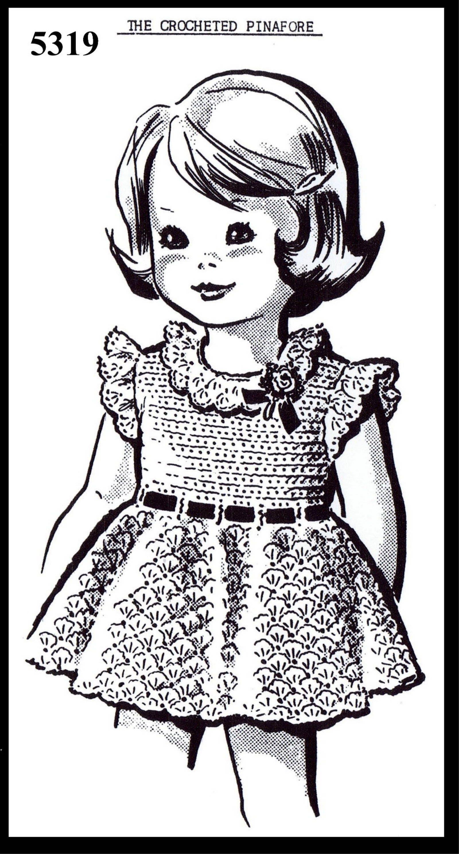 PDF Digital Delivery Childs DRESS Crocheting Crocheted Crochet   Etsy