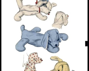 A4 Letter PDF Digital Delivery Advance 6588 Sleeping PUPPY Dog Fabric Sewing Pattern Perro Cane Toy Stuffed Animal or Pajama Bag COPY Letter