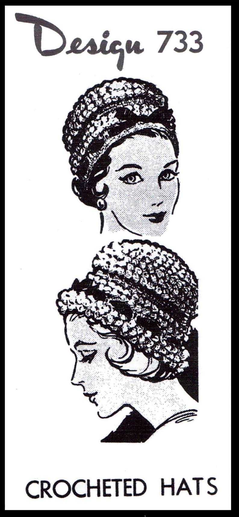 PDF Digital Delivery Millinery Crochet Crocheted Crocheting Pattern Design 733 CLOCHE Hat Cap Fascinator Chemo Cancer Alopecia P.D.F File