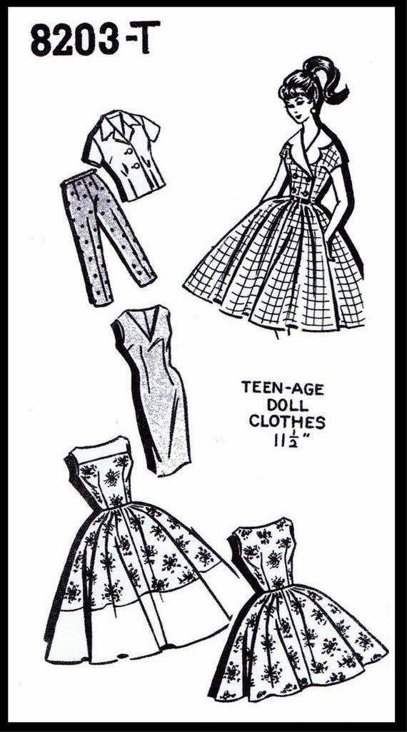 PDF Digital Download 40 Barbie Doll Patterns Fits Etsy Delectable Barbie Doll Patterns