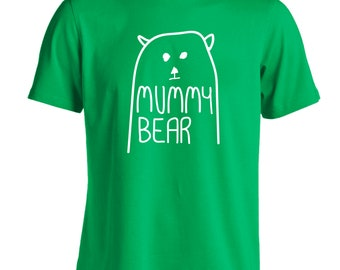 Mummy bear t-shirt baby announcement matching family group daughter son 4564