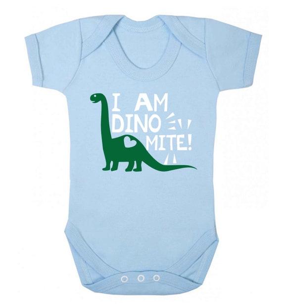 babysaurus baby vest dinosaur family group matching cute baby shower gift  5616