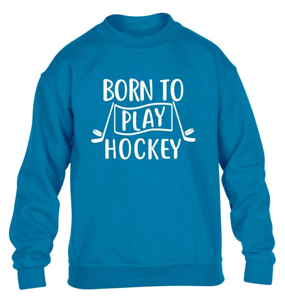 Childrens Hoodie-Equipment Kids Present I/'d Rather Be Playing Ice Hockey