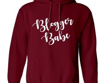 Blogger Babe hoodie / sweatshirt internet journal news camera chat diary planner book tumblr hipster instagram funny gift  4490