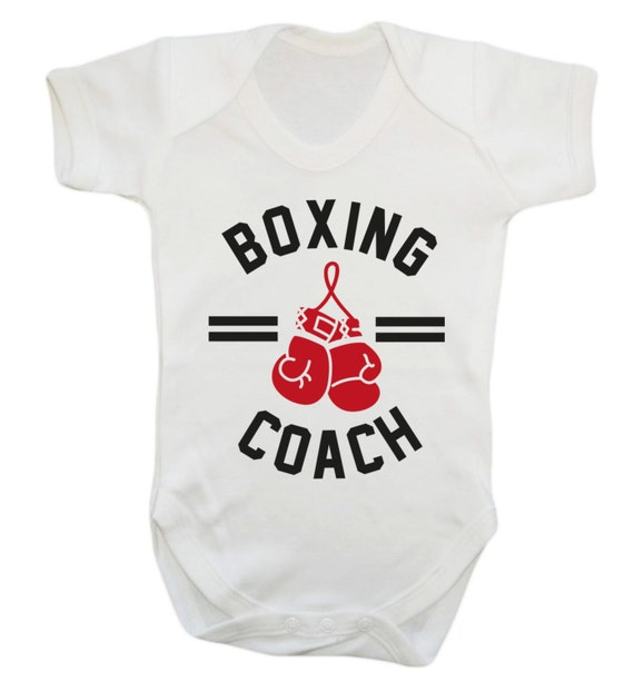 Born To Be A Boxer Sport Babygrow Vest Baby Clothing Funny Gift