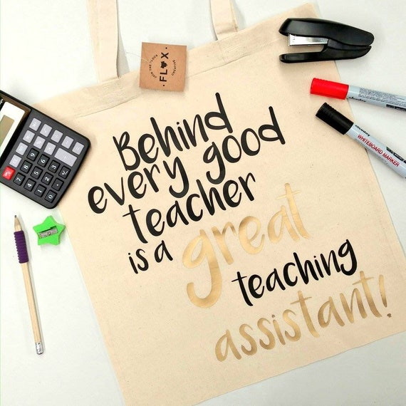 tote bag headteacher teaching gift governors pupil classroom primary secondary teacher thank you gift bag 2696 behind every good school