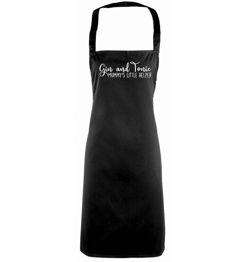 Apron cook chef bake menu kitchen food pun joke funny drink alcohol cocktail lemon hipster gift 5297 Gin and tonic mummy/'s little helper