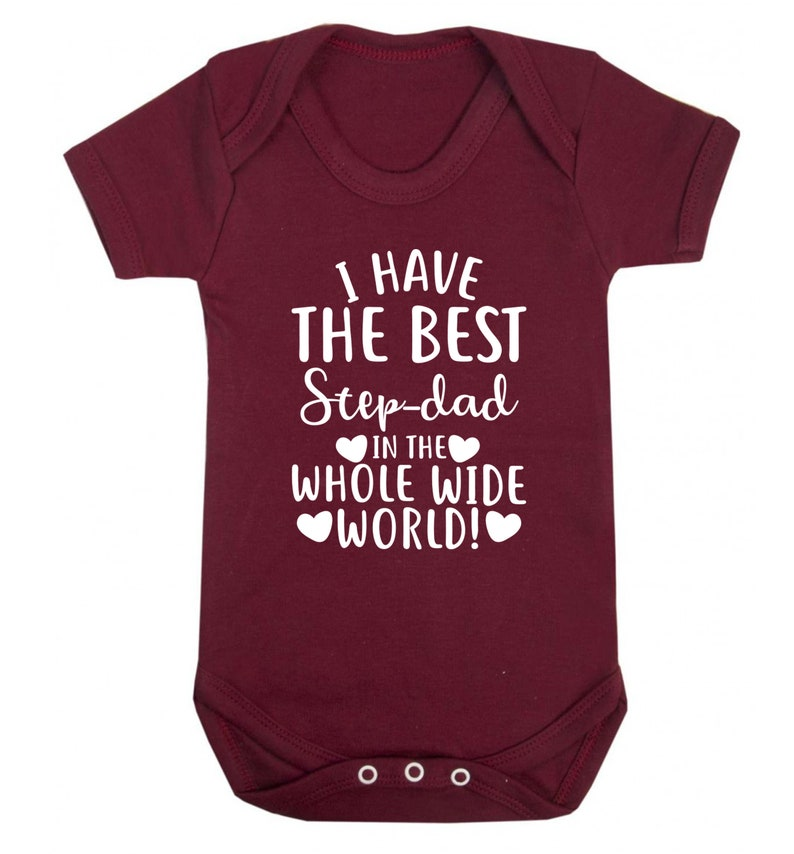 best step Dad in the world baby vest Father/'s Day birthday step son step daughter family group love heart hipster gift  4625