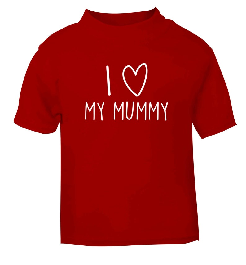 3f520364 I love my mummy baby / toddler t-shirt Mother's Day baby | Etsy