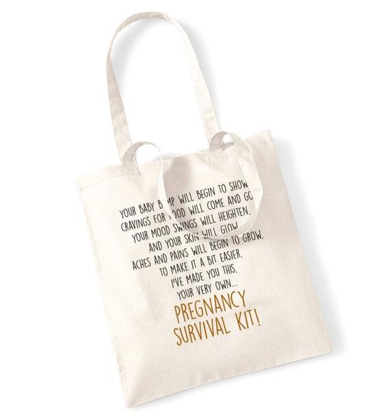 Zwangerschap Overlevingspakket Gedicht Cadeau Zak Tote Tas En Unieke Gift Oplossing Voor Nieuwe Mama Te Zijn Sentimentele Geschenk Tas Voor De