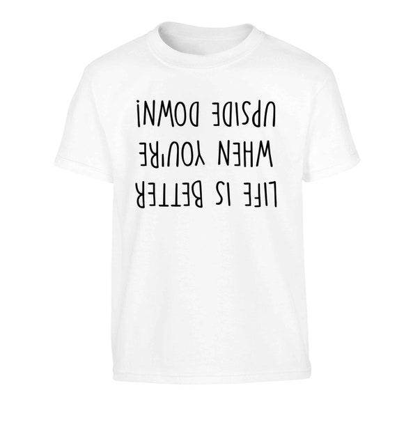 kid/'s t-shirt gymnast flip upside down funny joke 1616 my handstand t-shirt