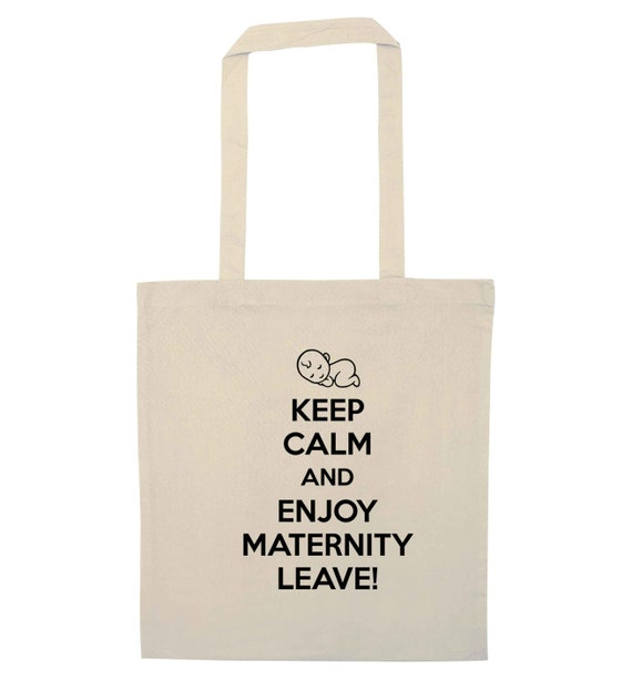 tote bag keepsake baby shower gift bag 5696 Keep calm and enjoy maternity leave