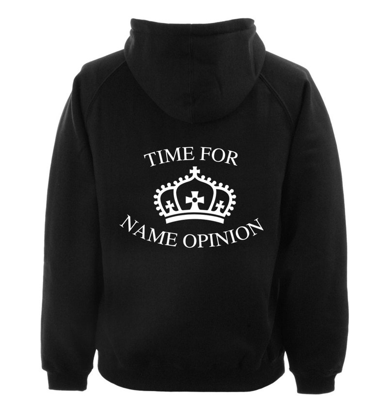 29953b847999 Time for your name s opinion on back hoodie or
