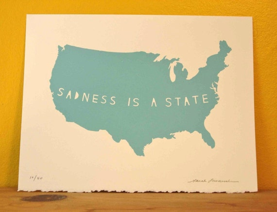 Sadness Set, state art, state screenprint, United States, America