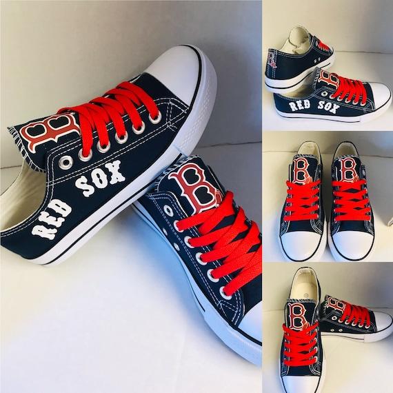 Boston Red Sox Womens Tennis Shoes   Etsy