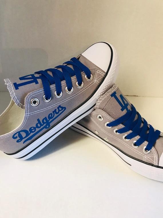 LA dodgers Tennis shoes | Etsy