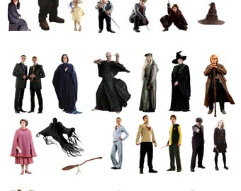 41 Stand Up Harry Potter Edible Premium Wafer Paper Cake Toppers
