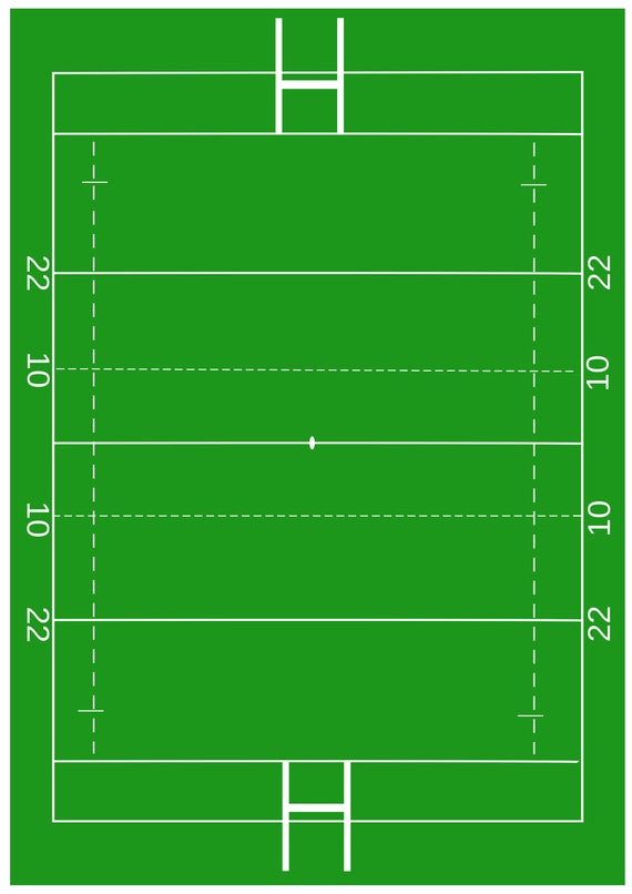 1 X A4 Printed Rugby Pitch Wallpaper Decor Icing Sheet