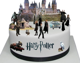Stand Up Harry Potter Scene made from Fully Edible Premium Wafer Paper - Cake Topper Decoration