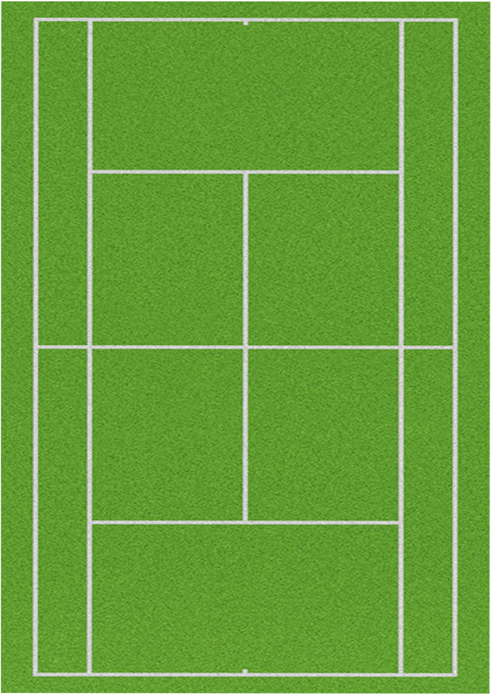 1 X A4 Printed Tennis Court Wallpaper Decor Icing Sheet Edible Etsy