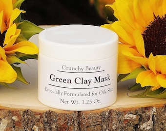 Green Clay Mask - Oily Skin - Underarm Mask - Deep Cleaning - Kaolin Clay - Bentonite Clay - French Green Clay - Mask -  No Preservatives