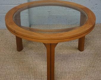 Vintage Teak & Glass 'Nathan' Coffee Table