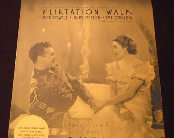 Mr & Mrs Is The Name Sheet Music 1934 from FLIRTATION WALK with Dick Powell Ruby Keeler Pat O'Brien First National and the Vitaphone Corp