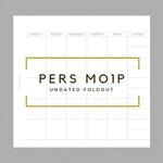 personal MO1P foldout *unDATED* printable planner insert (monthly)
