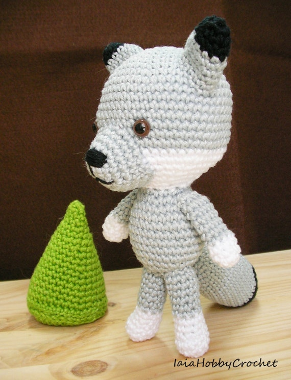 Wolf Amigurumi Stuffed Animal, crochet wolf doll, amigurumi wolf ... | 745x570