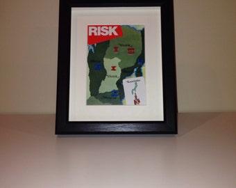 Risk Shadowbox Art - Large, Portrait Orientation (Eastern Russia)