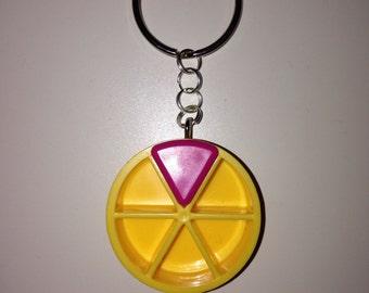 """Trivial Pursuit """"Pie"""" Keychain/Bag Charm"""