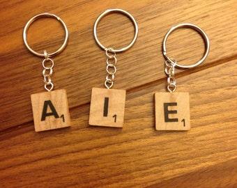 Scrabble Tile Keychain/Bag Charm