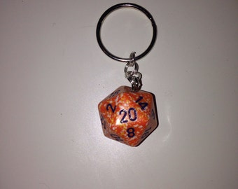 Dice Keychain/Bag Charm (Assorted colors)