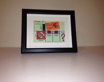 Monopoly Shadowbox Art - Large, Landscape Orientation (Jail)