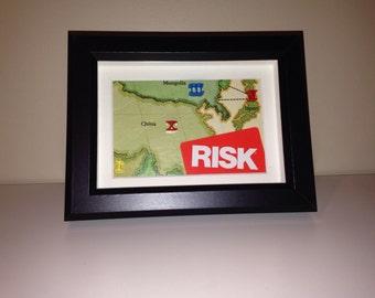 Risk Shadowbox Art - Small, Landscape Orientation (China)