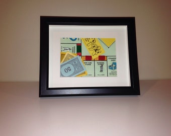 Monopoly Shadowbox Art - Large, Landscape Orientation (Free Parking)