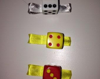 Dice Alligator Hair Clip (single, six-sided dice)