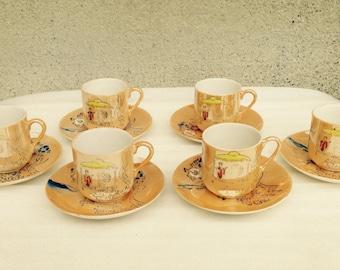 Coffee Cups, Coffee Gifts, Coffee Decor, Coffee Cup Set, Vintage Coffee Cups, Coffee Set, Coffee Service, Kitsch, Kitchen Decor