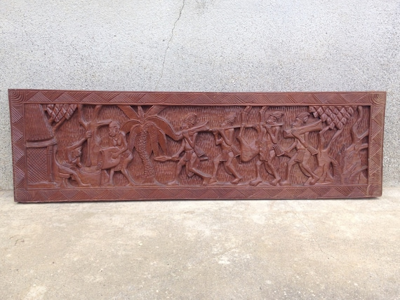 African Tribal Art Wall Hanging Wood Carving Or Wood Sculpture African Decor Wall Decor Hunting Gifts Tribal Gifts