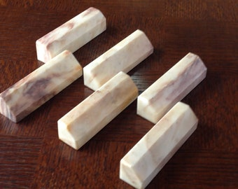 Set of 6 Marble Knife Rests or Chopstick Rests, French Vintage, Retro Kitchen, Cutlery Rests, Table Decor, Gift For Wife, Gift For Mom