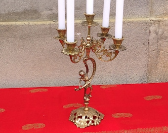 Candelabra, Candle Holder, Table Centerpiece, Vintage, Brass Candle Holder, Brass Candelabra, Vintage Candelabra, Home Decor, FREE SHIPPING